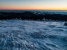 Winter landscape. In Giant mountains (Czech Republic Royalty Free Stock Photography