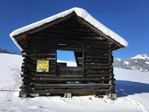 Winter Landscape in Goldegg, Austria Royalty Free Stock Image