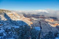 Winter Landscape at Grand Canyon Stock Images