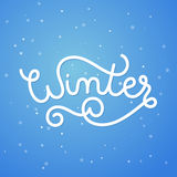Winter landscape with hand lettering Royalty Free Stock Photography