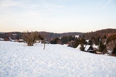 Winter landscape from harz Stock Image