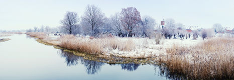 Winter landscape on Havel River (Germany) Stock Photo