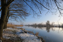 Winter landscape at Havel River. Royalty Free Stock Photos