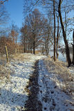 Winter landscape at Havel River. Royalty Free Stock Image
