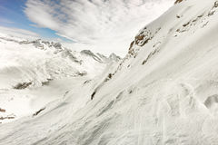 Winter landscape, High mountains in Alagna Valsesia, Italy Stock Photography