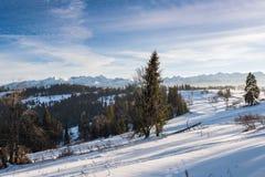 Winter landscape of High Tatra Mountains Stock Photo