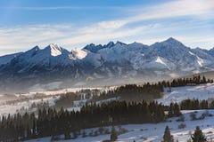Winter landscape of High Tatra Mountains Royalty Free Stock Photo
