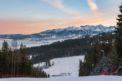 Winter landscape of High Tatra Mountains Royalty Free Stock Photography