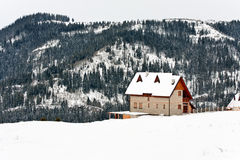 Winter landscape house Royalty Free Stock Photo