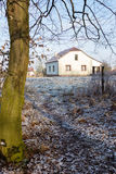 Winter landscape of house in village Royalty Free Stock Photography