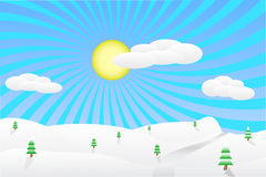 Winter landscape illustration Royalty Free Stock Photo