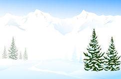 Winter Landscape. Is a  illustration Royalty Free Stock Image