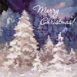 Winter landscape illustration Royalty Free Stock Images