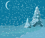 Winter landscape illustration Stock Photography