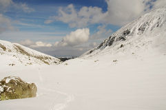 Winter Landscape In Retezat Mountain, Romania Royalty Free Stock Photography
