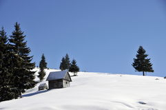 Free Winter Landscape In Romania Royalty Free Stock Photography - 47594827