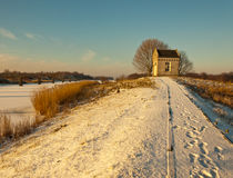 Winter Landscape In The Low Afternoon Sun. Royalty Free Stock Photo