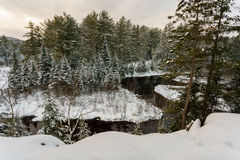 Winter landscape iof a wilderness park Royalty Free Stock Image