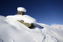 Winter landscape in the italian Alps Stock Photography