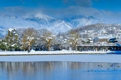 Winter Landscape in Japan Stock Images