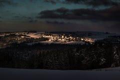 Winter Landscape. Jeseniky nature, countryside, scenery Stock Photo