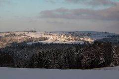 Winter Landscape. Jeseniky nature, countryside, scenery Stock Images