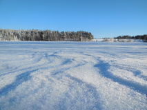 Winter landscape in the Karelia. Royalty Free Stock Photo