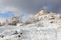 Winter landscape - Krasna Horka Castle, Royalty Free Stock Images