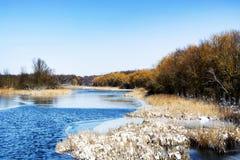Winter landscape of Lake Balaton. Hungary Royalty Free Stock Photography