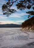 Winter landscape on the lake Stock Image