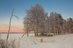 Beautiful Winter Landscape in Lapland,Finland. Winter landscape in Lapland,Finland Stock Image