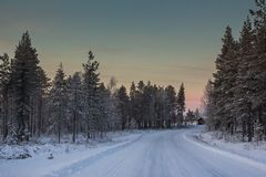 Beautiful Winter Landscape in Lapland,Finland. Winter landscape in Lapland,Finland Royalty Free Stock Image
