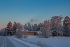 Beautiful Winter Landscape in Lapland,Finland. Winter landscape in Lapland,Finland Royalty Free Stock Photo