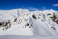 Winter landscape in the Lepontine Alps Stock Image