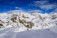 Winter landscape in the Lepontine Alps Stock Photography
