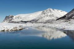 Winter landscape of Lofoten Islands Stock Images