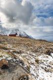 Winter landscape of Lofoten Islands Stock Photography