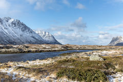 Winter landscape of Lofoten Islands, Royalty Free Stock Photo