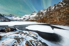 Winter landscape on Lofoten Islands, Stock Image