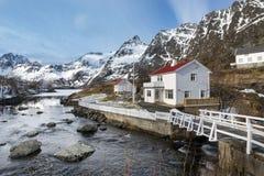 Winter landscape on Lofoten Islands, Royalty Free Stock Image
