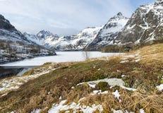 Winter landscape on Lofoten Islands, Stock Photo