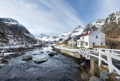 Winter landscape on Lofoten Islands, Stock Photos