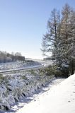 Winter landscape with lot of snow Stock Photography