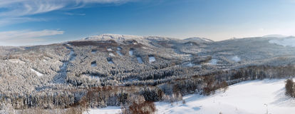Winter landscape, Lusatian Mountains Stock Image