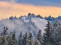 Winter Landscape in Madaras, Harghita, Romania. Winter Landscape in Madaras, Harghita in Romania Royalty Free Stock Photo