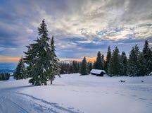 Winter Landscape in Madaras, Harghita, Romania. Winter Landscape in Madaras, Harghita Romania Royalty Free Stock Photography