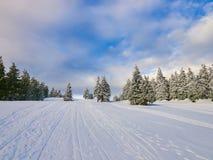 Winter Landscape in Madaras, Harghita, Romania. Winter Landscape in Madaras, Harghita in Romania Royalty Free Stock Images