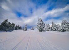 Winter Landscape in Madaras, Harghita, Romania. Winter Landscape in Madaras, Harghita in Romania Royalty Free Stock Image