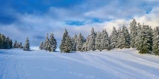 Winter Landscape in Madaras, Harghita, Romania. Winter Landscape in Madaras, Harghita in Romania Royalty Free Stock Photos