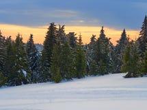 Winter Landscape in Madaras, Harghita, Romania. Winter Landscape in Madaras, Harghita in Romania Stock Photos